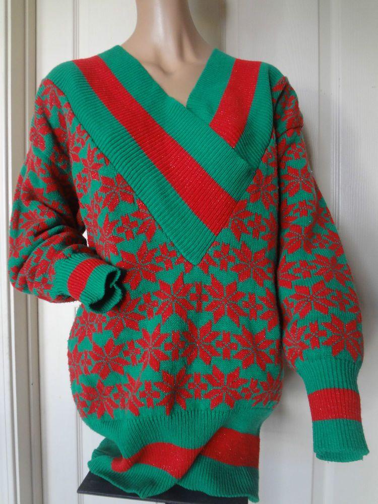 Vintage man / woman Ugly Christmas Sweater  #YOIDO #VNeck