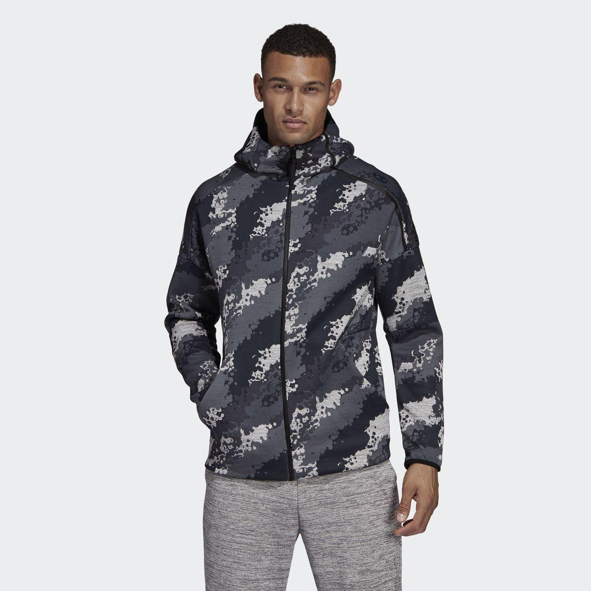 Fast Release Adidas Z n Taille À Capuche Print Veste eAllover klPZiTwOXu