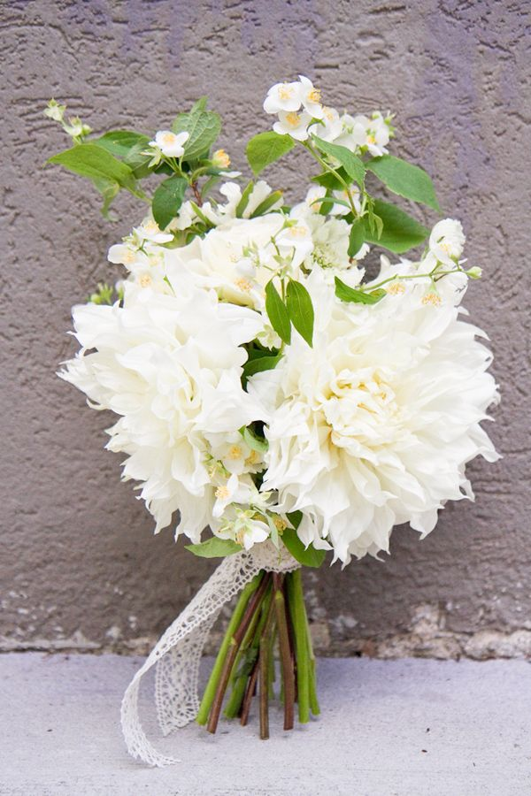 Dinnerplate Dahlias Wedding Bouquet 06 Ruffled Dahlias Wedding Flower Bouquet Wedding White Dahlia Bouquet
