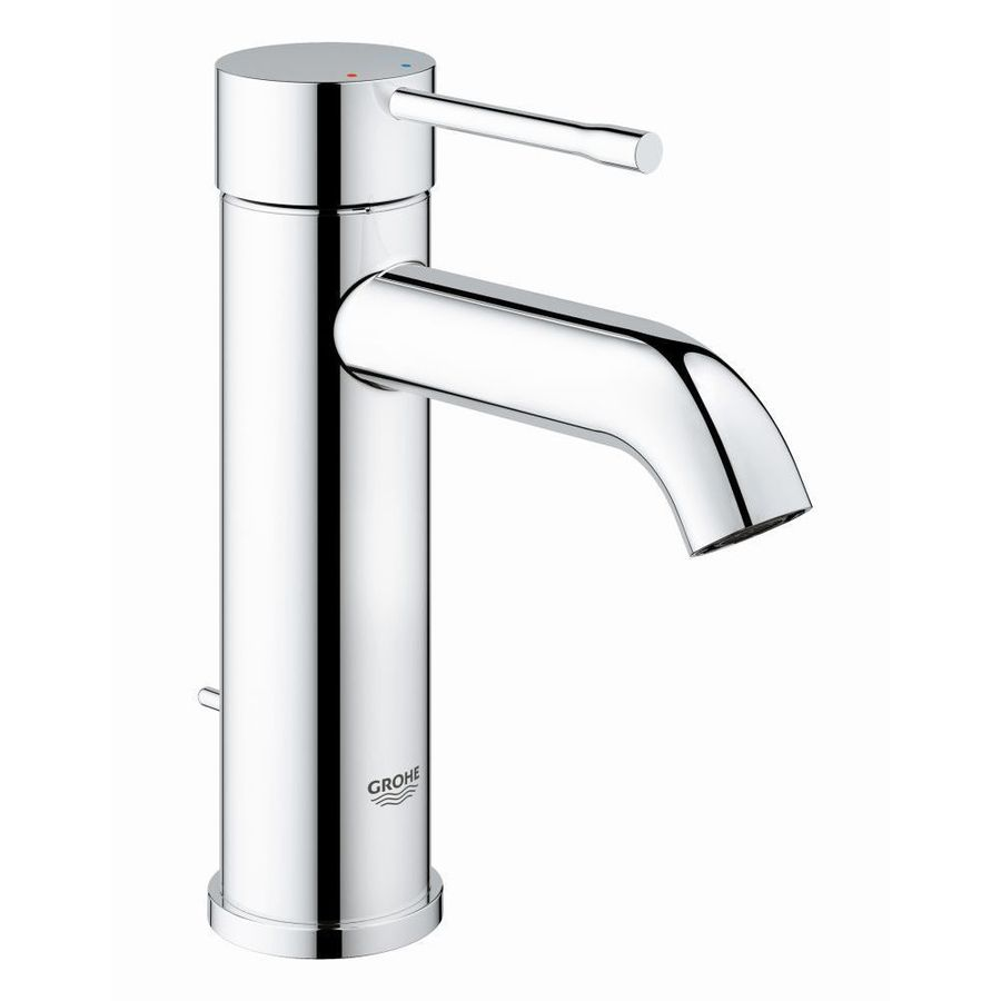 Grohe Essence Chrome 1 Handle Single Hole Watersense Bathroom Sink Faucet With Drain Lowes Com Sink Faucets Bathroom Sink Faucets Kitchen Faucet Repair [ 900 x 900 Pixel ]