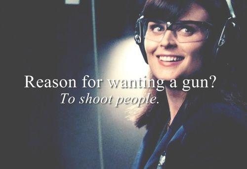 Bones | Reason for wanting a gun