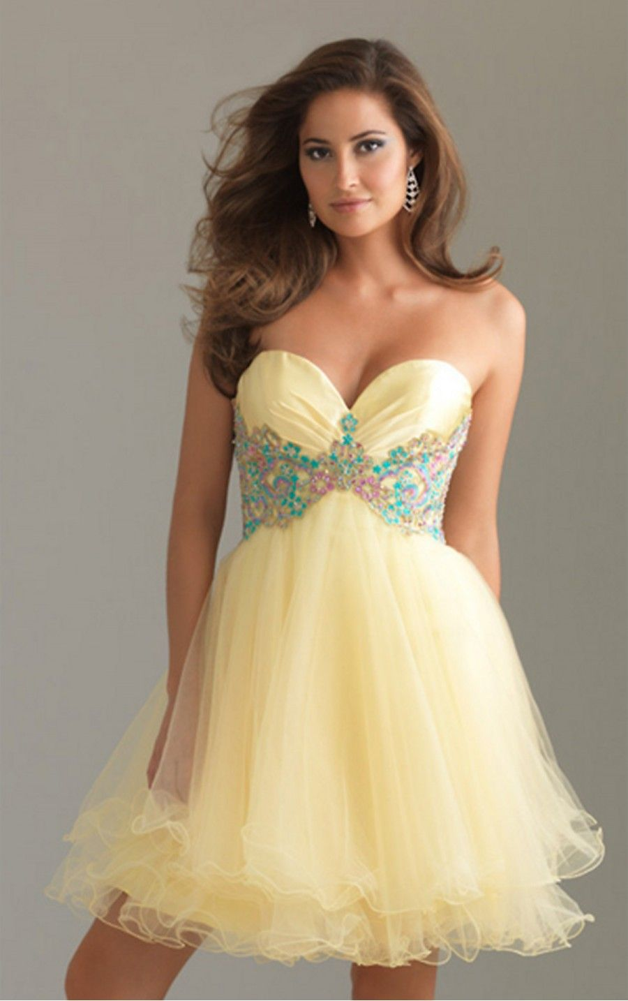 Daffodil ball gown short sweetheart dress dresses