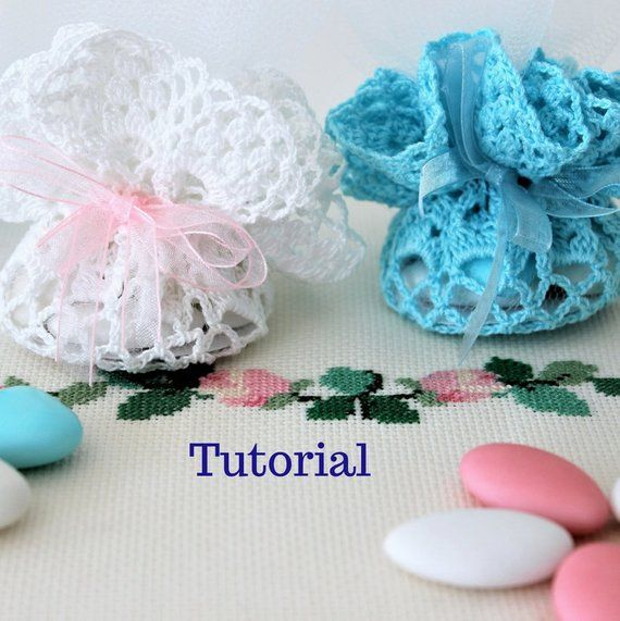 Tutorial Favors Baptism Boy Or Girls Scheme Of Crochet Doilies In