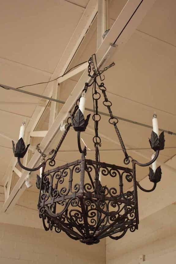 Item l5 spanish iron chandelier antique lighting pinterest item l5 spanish iron chandelier aloadofball Images