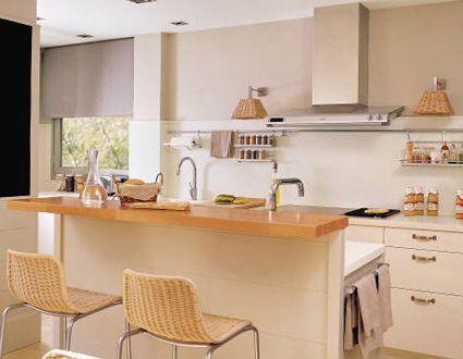 Con una barra adosada cocinas pinterest cocinas - Metro cuadrado decoracion ...