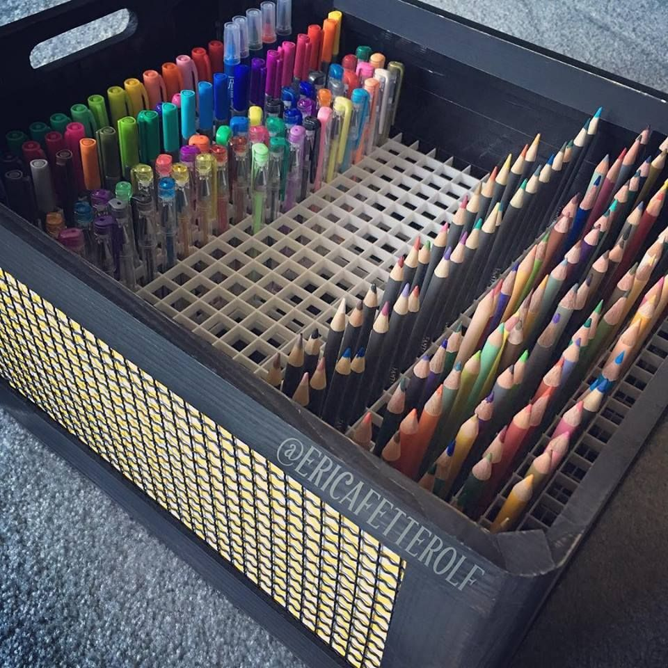 Found a solution for my pens pencils box a ceiling tile found a solution for my pencils markers and pens found this box at and bought a ceiling tile at easily cut to size with wire cutters dailygadgetfo Images