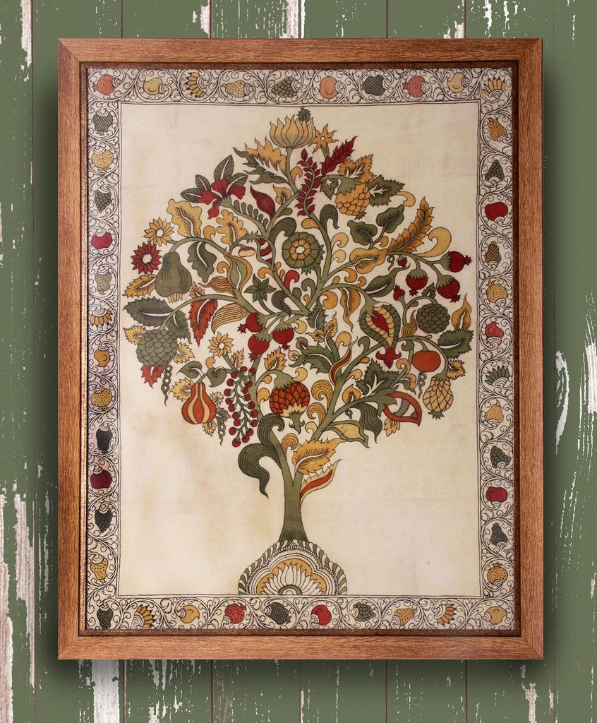 Tree Of Life Original Kalamkari On Fabric Tree Of Life