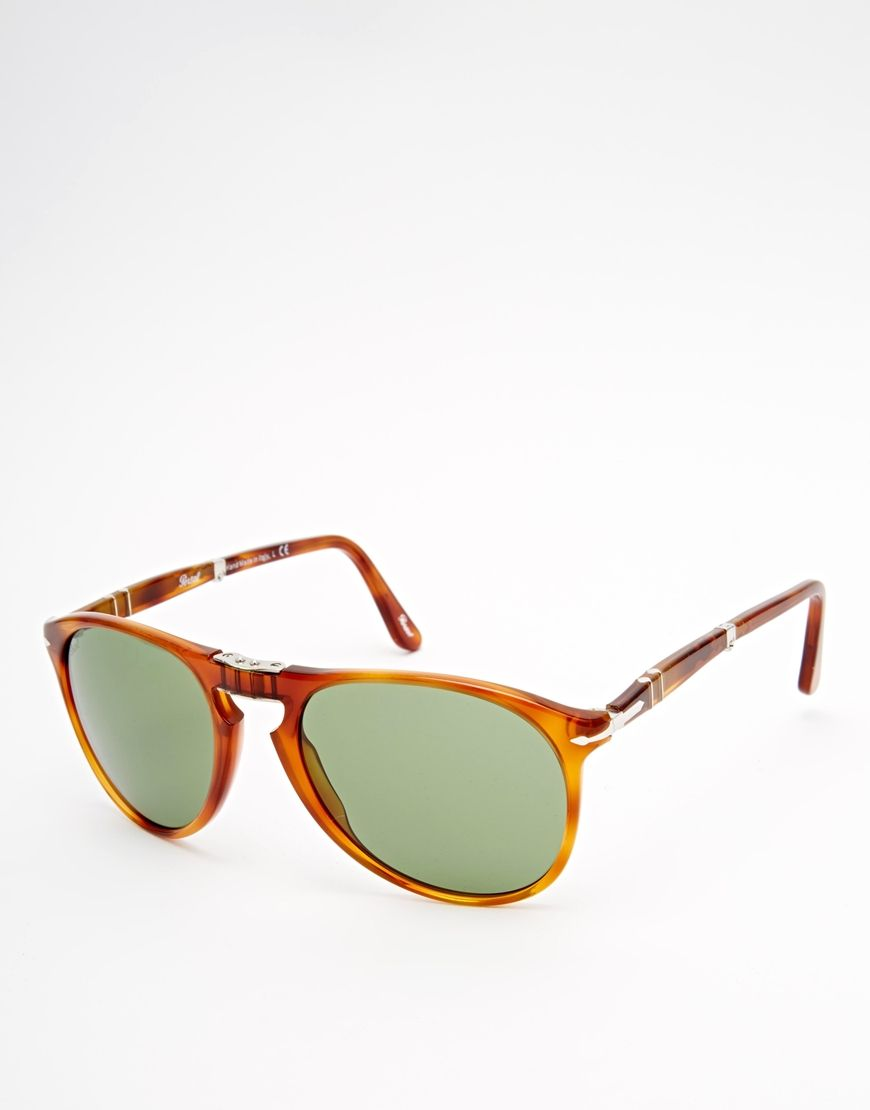 Image 1 of Persol Aviator Keyhole Foldable Sunglasses ... faf2d5b090