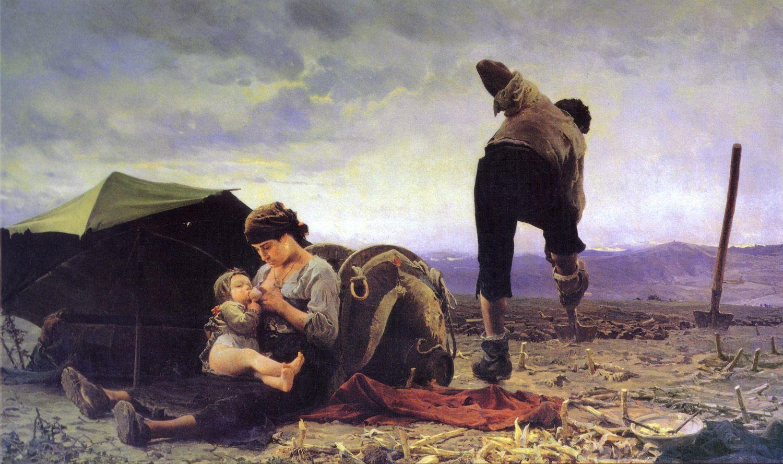 Teofilo Patini (Castel di Sangro, 5 maggio 1840 – Napoli, 16 novembre 1906): Vanga e latte