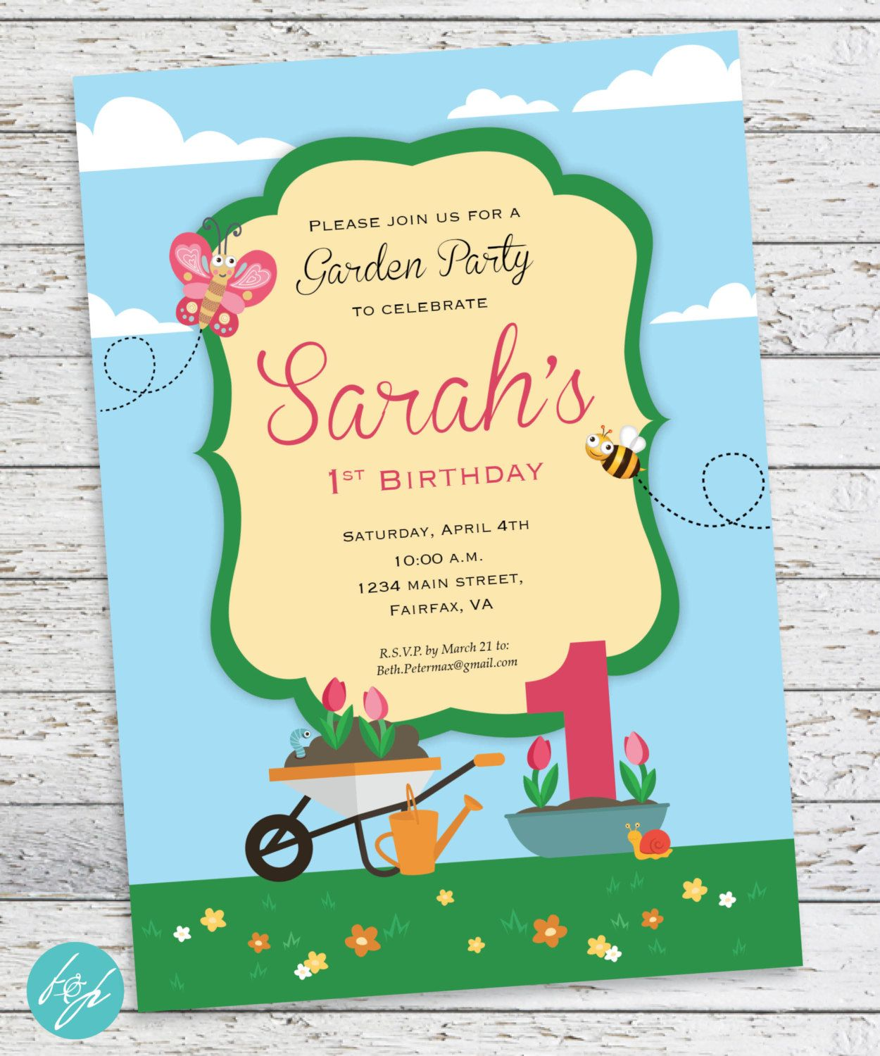 spring garden birthday invitations spring party first birthday