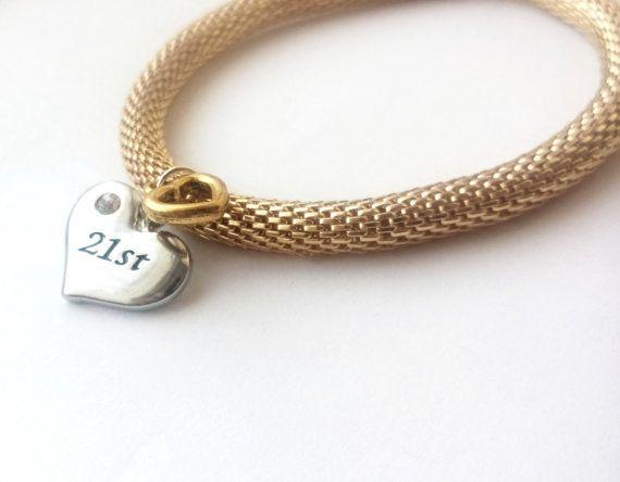 21st birthday gift for her gift idea bracelet jewelry by Akhiila on Etsy