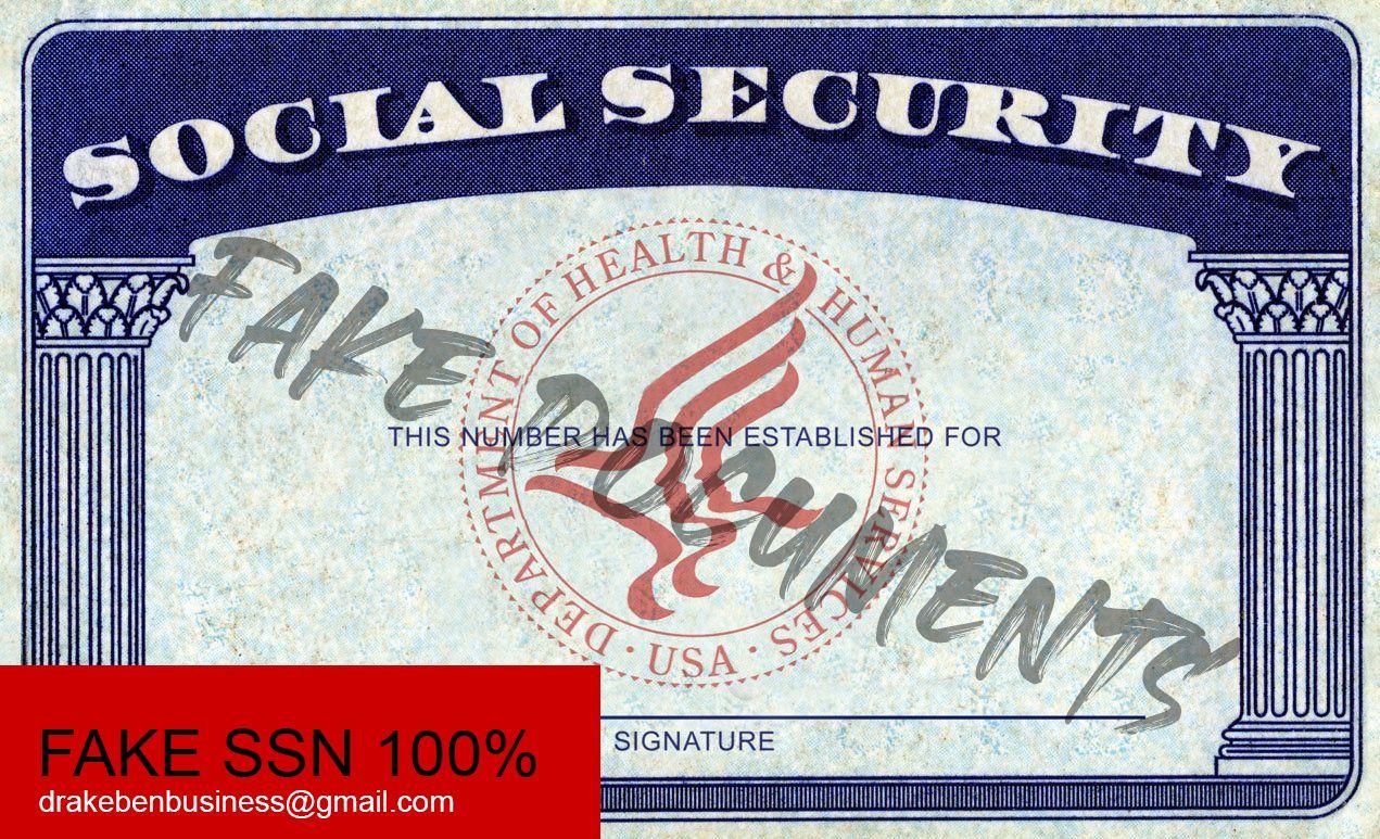 fake social security card number
