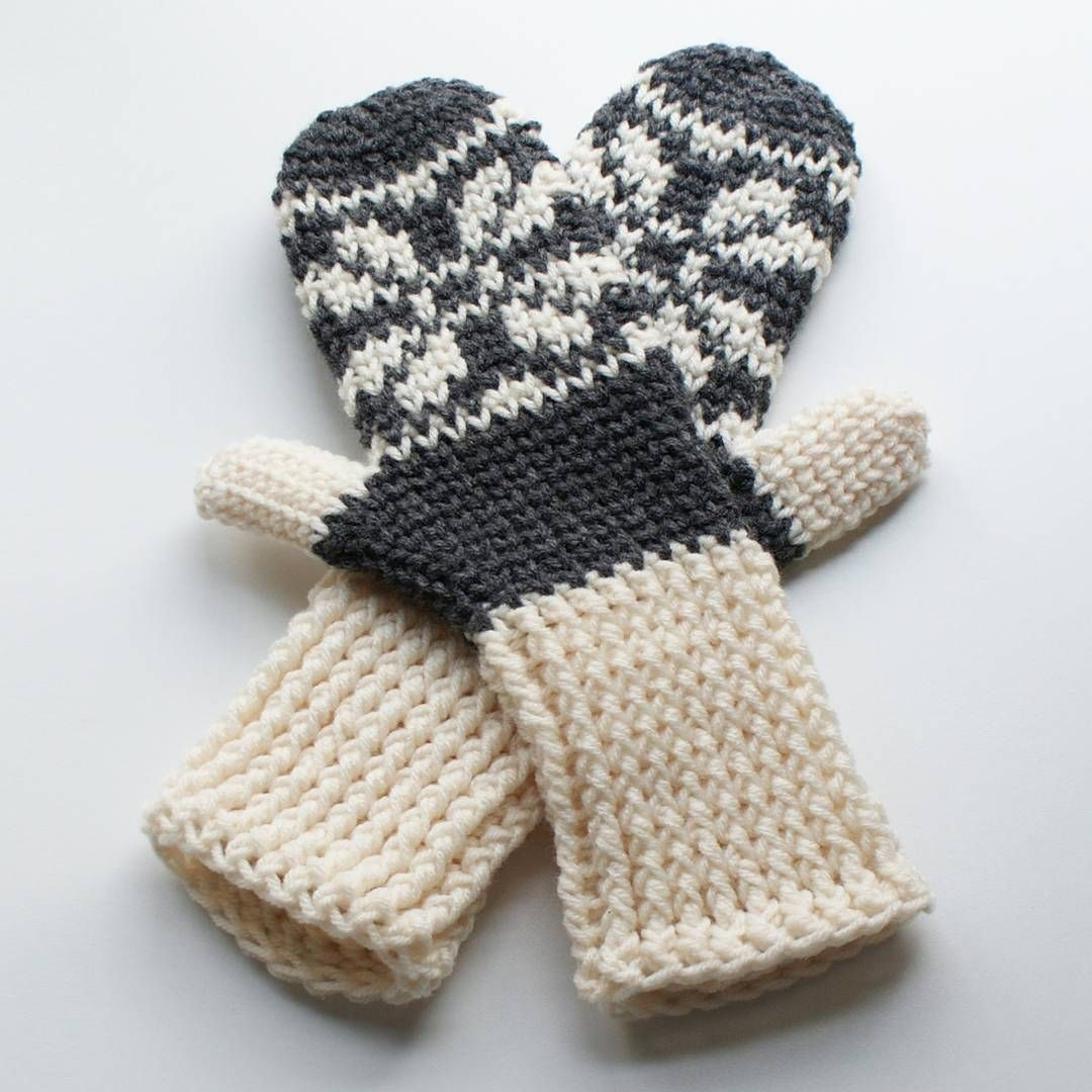 They are crochet, not knit! I promise! This awesome little stitch is ...