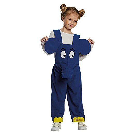Sendung mit der Maus Kinder Kostüm Elefant Karneval Fasching Gr.104 ...