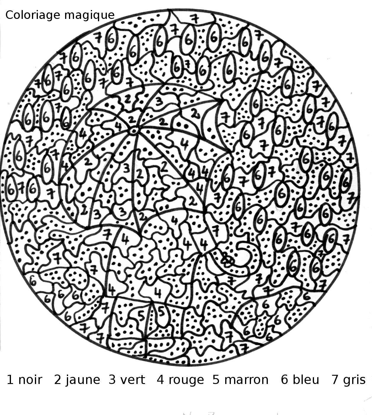 Coloriage Magique Nombres - [PDF]SOMMAIRE Free   Coloriage ...