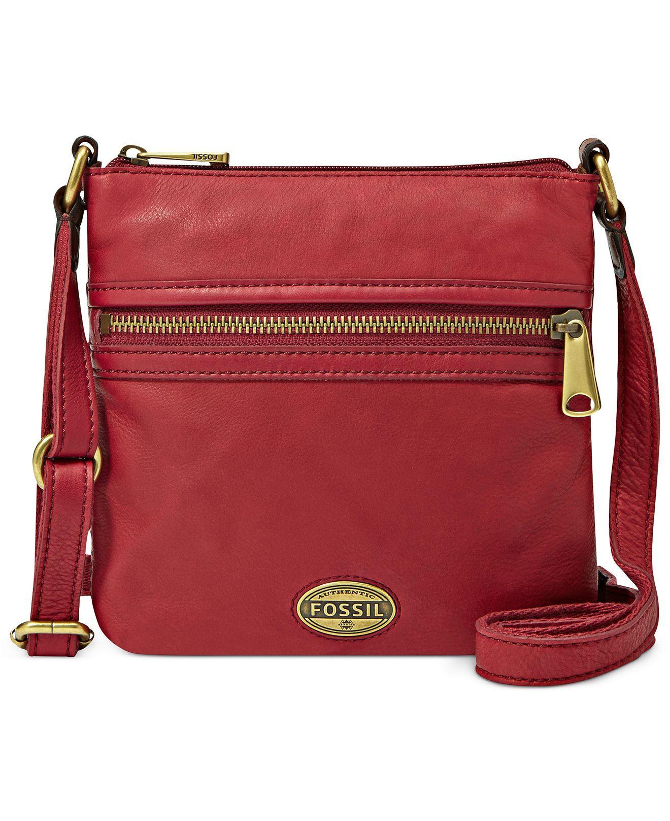 Fossil Handbag Explorer Leather Mini Crossbody