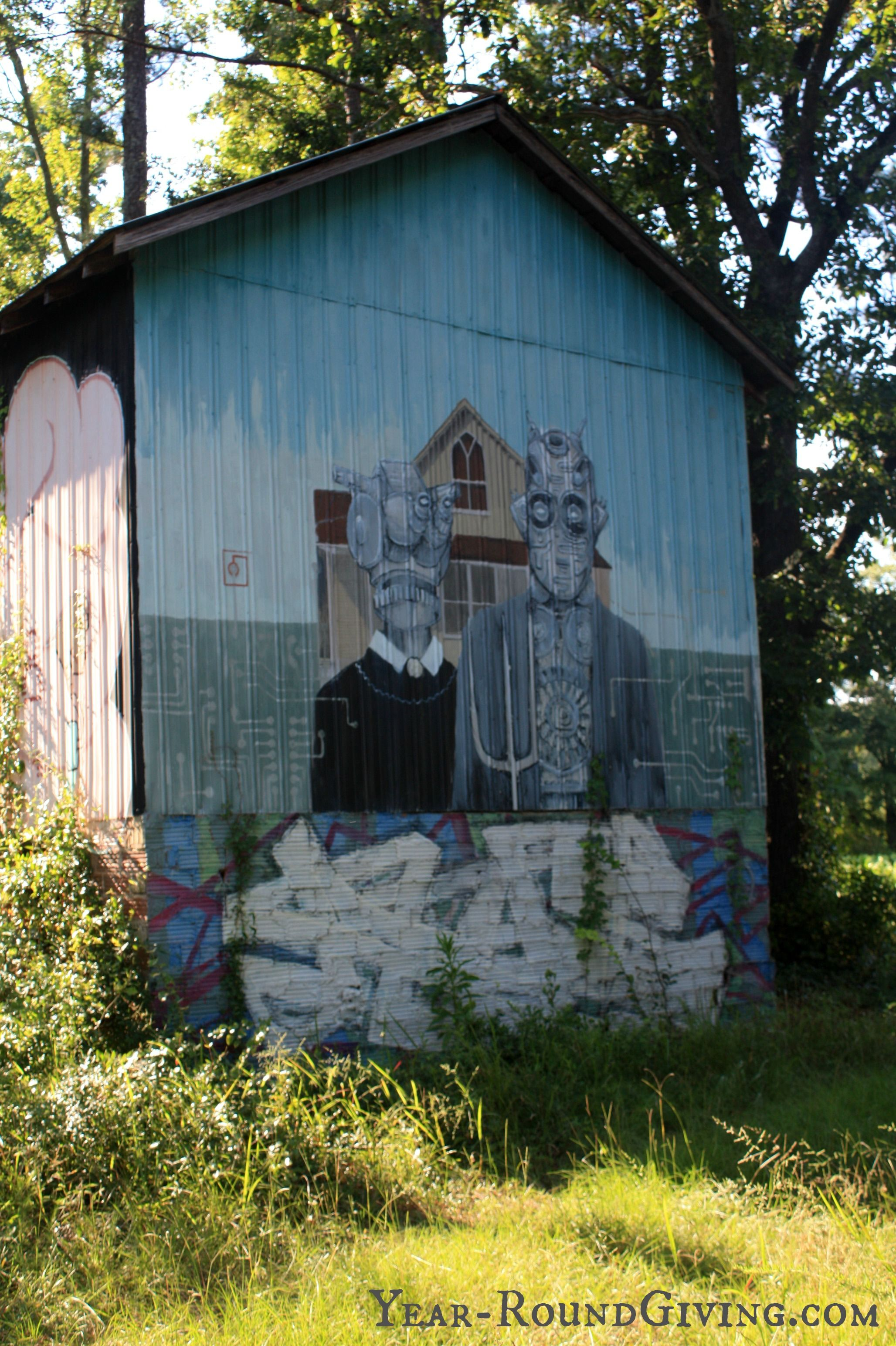 Old Painted Tobacco Barn In Nc Year Roundgiving Com