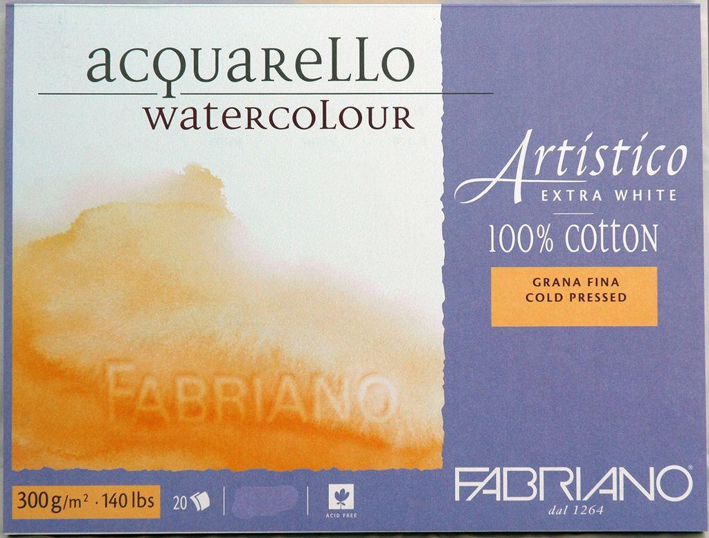 Fabriano Artistico Extra Wht Block 140 Lb 300 Gsm Cold Press