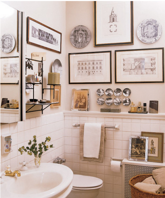 The Art Is Already Similar To My Black And White Bathroom But I Love The Details Of This Bathroom Small Bathroom Decor Bathroom Decor Decor
