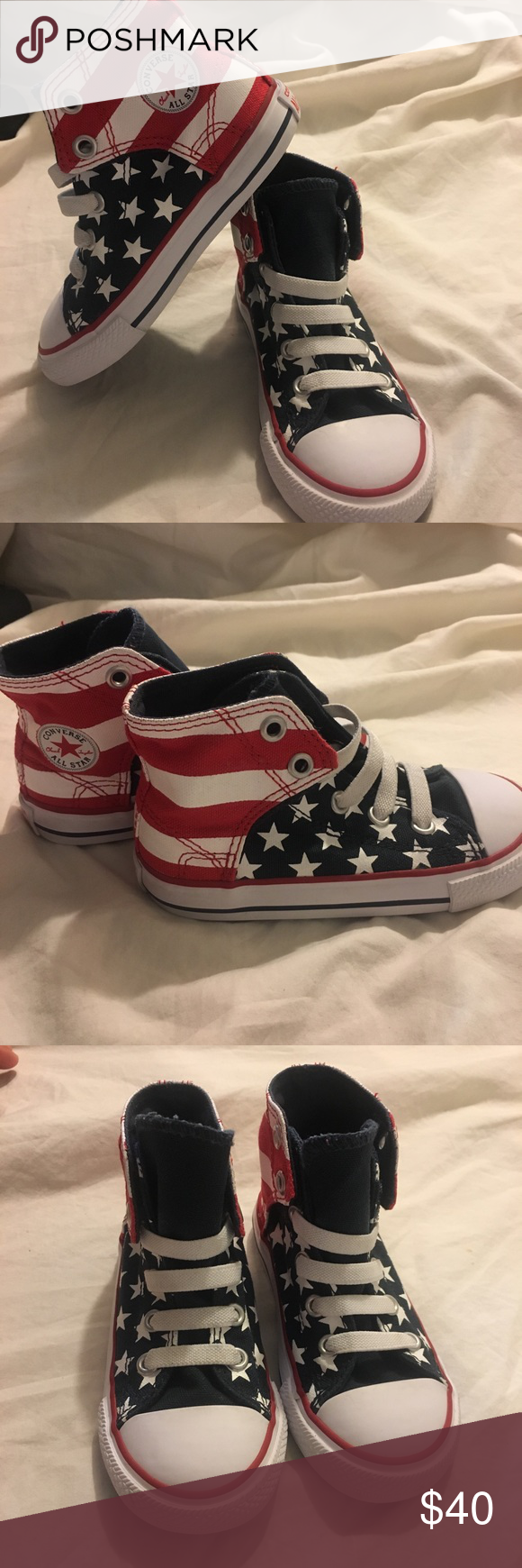 ce4c1fe5b91f0c Converse all star chuck Taylor American flag shoes Only worn once