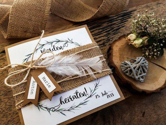 Save The Date Cards Wedding Vintage Boho Invitation Wedding