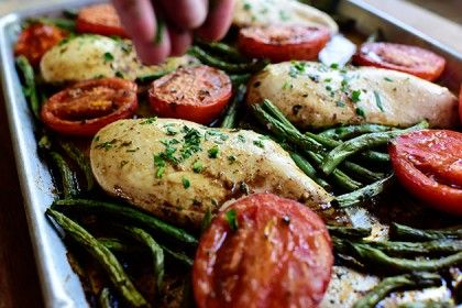 Italian Chicken Sheet Pan Supper #sheetpansuppers
