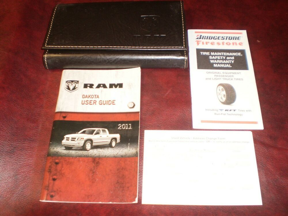2011 11 Dodge Dakota 4x4 2x4 Reg Dbl Crew Cab Owners Manual Books Guide Case All Dodge Dakota Firestone Tires Things To Sell