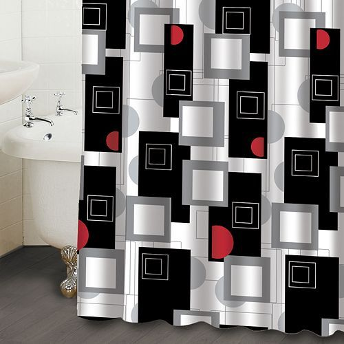 Superb Famous Home Fashions Urban Beat Geometric Fabric Shower Curtain Photo Gallery
