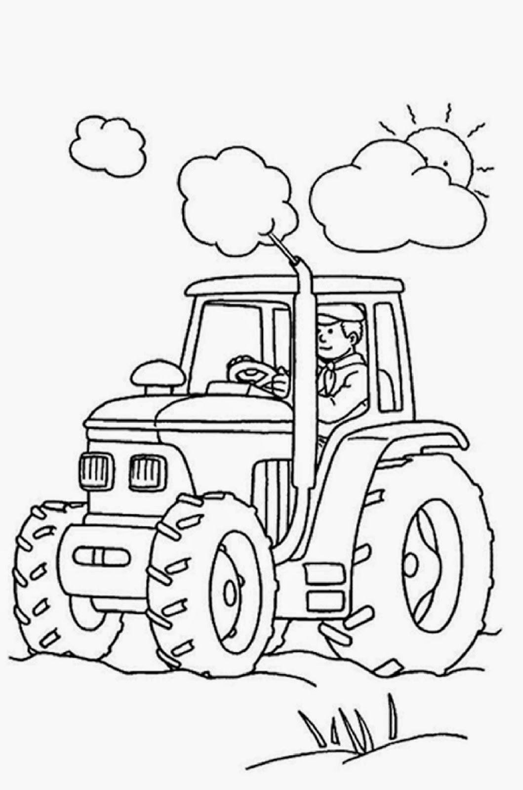 - Free Pictures To Color (With Images) Tractor Coloring Pages