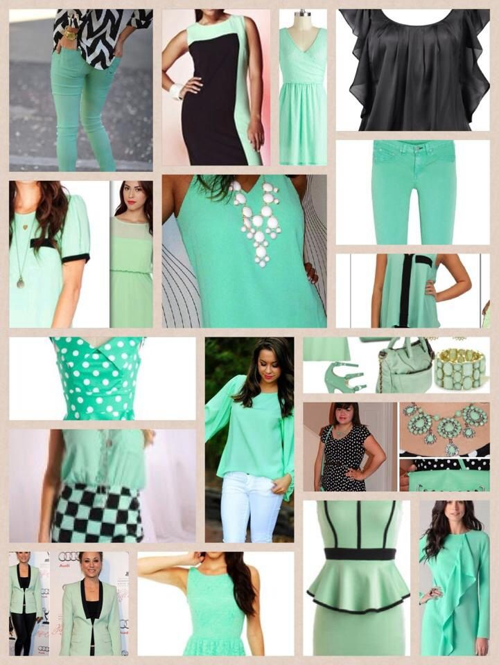 Mint Green White And Black Color Coordination Coordinating Colors Choir