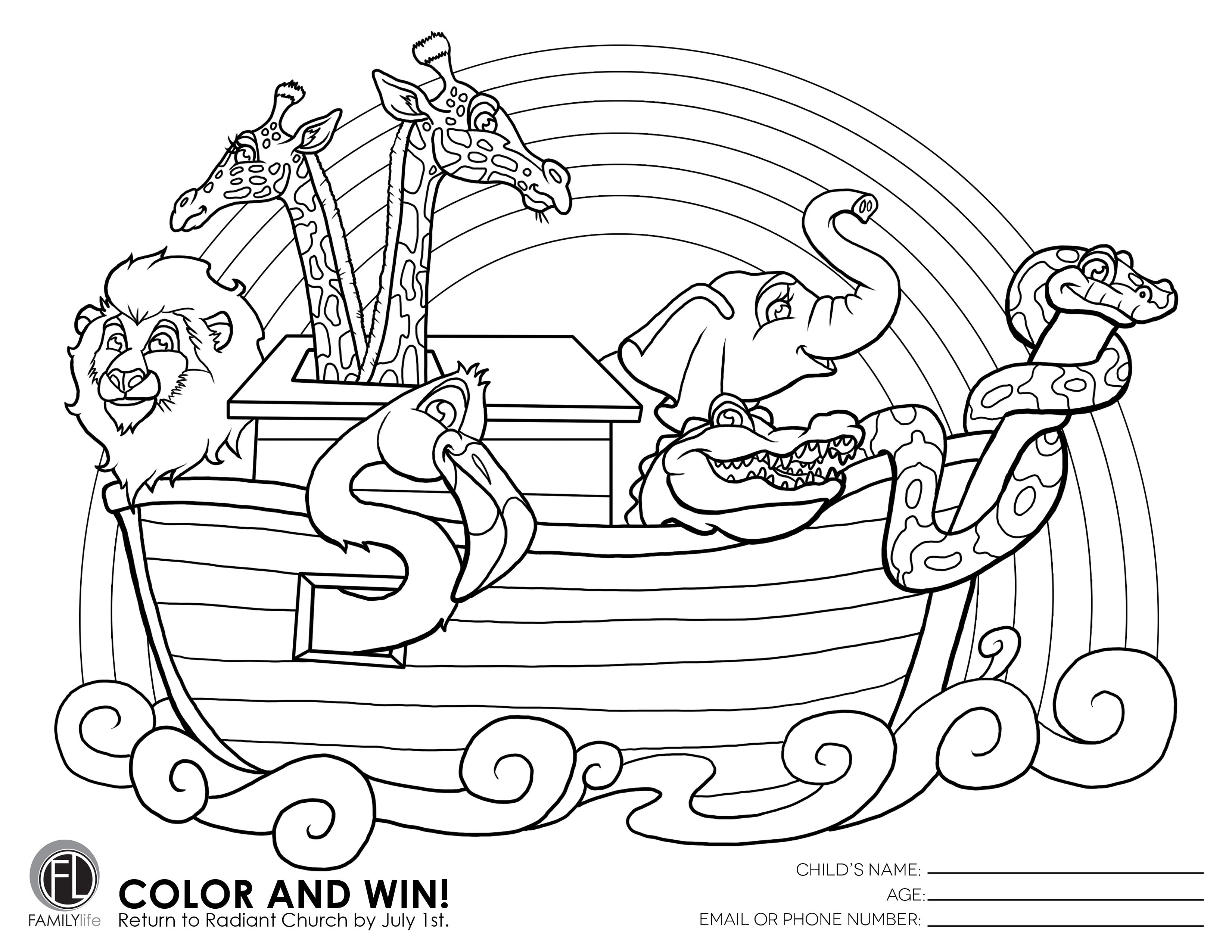Preschool have a coloring contest going on! Please bring