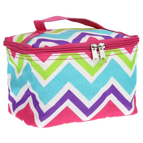 Girls Personalized Small Multicolor Chevron Cosmetic Bag Monogrammed Makeup  Case by DoubleBMonograms on Etsy 9bec833345658