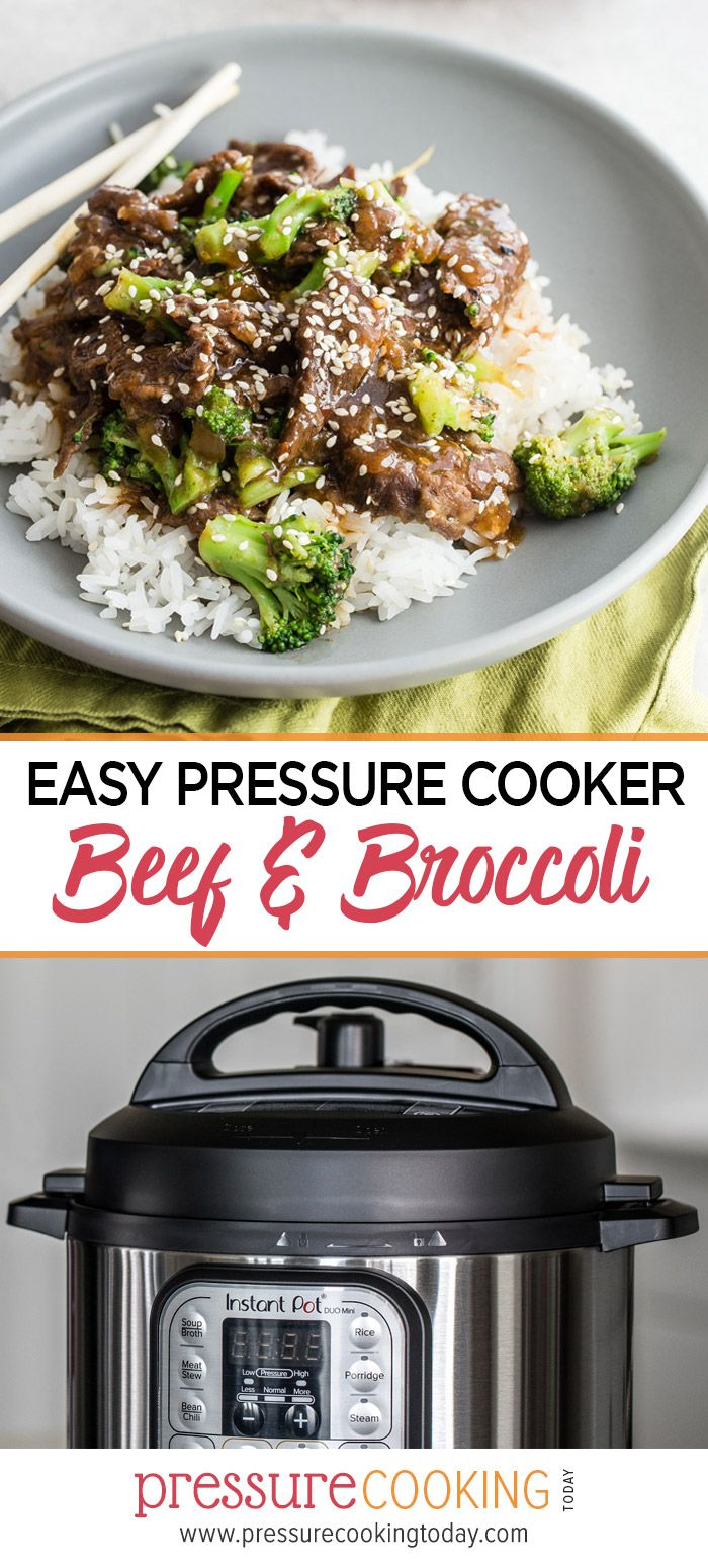 Pressure Cooker Beef and Broccoli #instantpotrecipeseasy