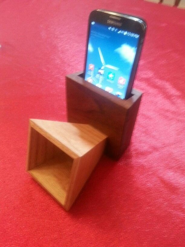 Corner Cabinet Furniture Dining Room: Smartphone Passive Amplifier. Made By My Husband.