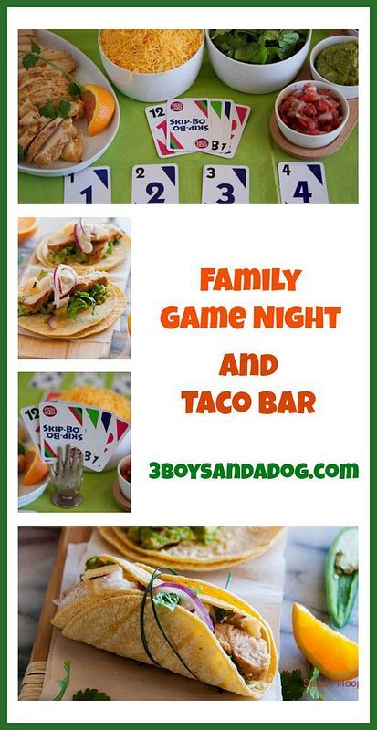 Game night fun and taco bar taco bar game night and family game night family game night and taco bar we love taco night at our house love the idea to combine with game night forumfinder Choice Image
