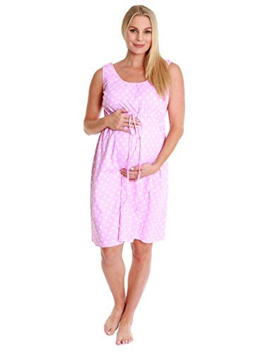 1fbed36788026 3 in 1 Labor Delivery Nursing Gown Baby Be Mine Maternity SM Pink Polka Dot     You can find out more details at the link of the image.