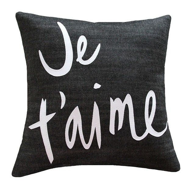 If you have things in your home with words in french all over them, it instantly makes you more interesting...FACT. Search 'Je T'aime cushion' on dtll.com.au or click on the shopable link in our profile #dtll #downthatlittlelane