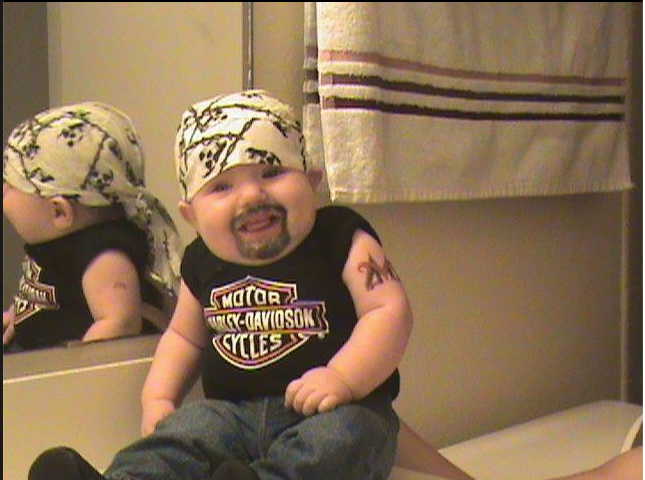 Chubby Baby Halloween Costumes.Hilarious Baby Halloween Costume Biker Baby Harley Baby Badass Baby