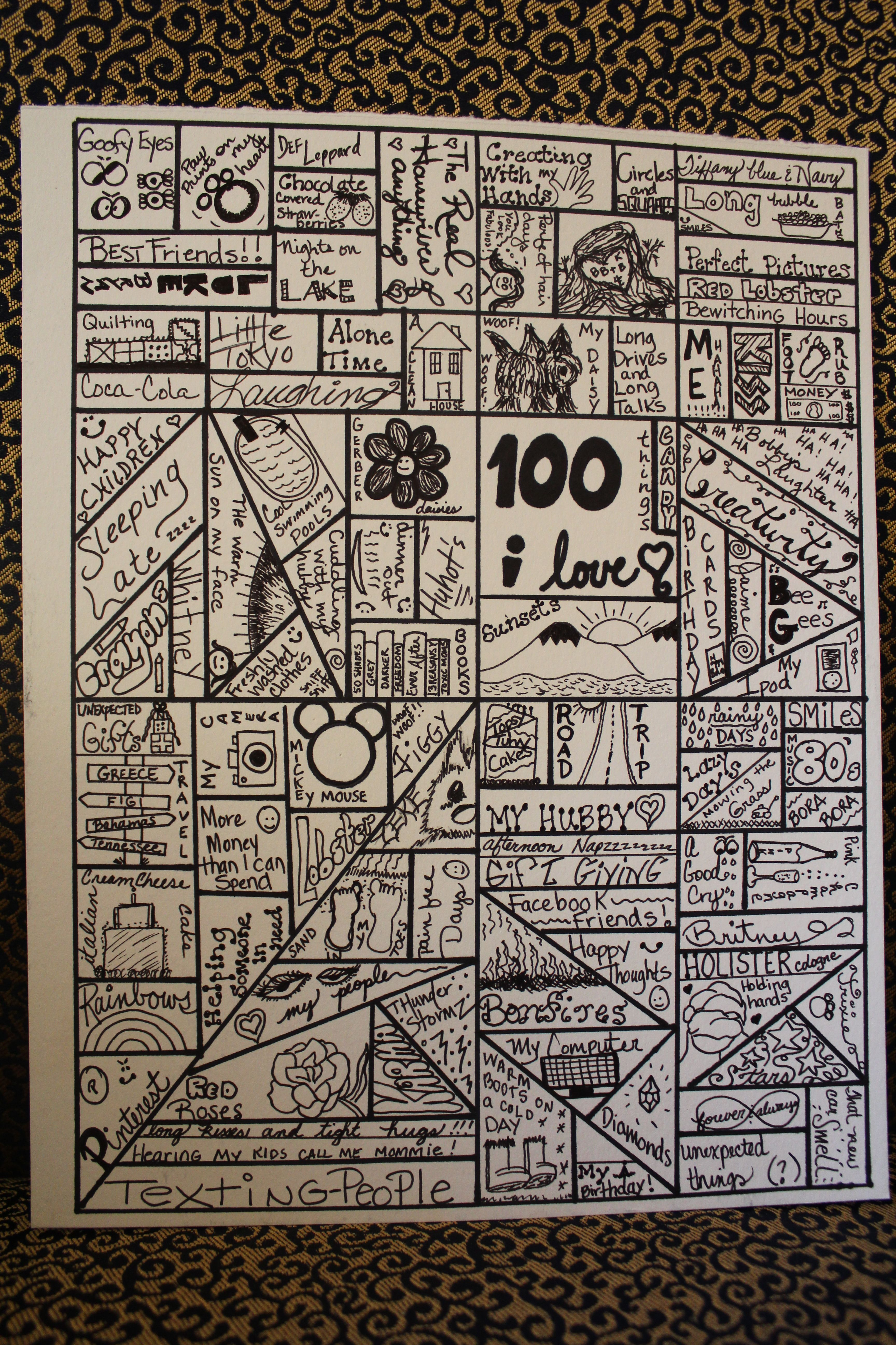 100 Things I Love Beginning Of The Year Activity