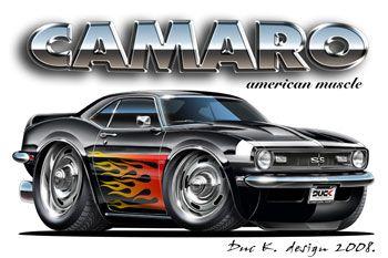 Muscle Car Cartoon Art Preview Dap Of Drawings Of Cars Rods 2