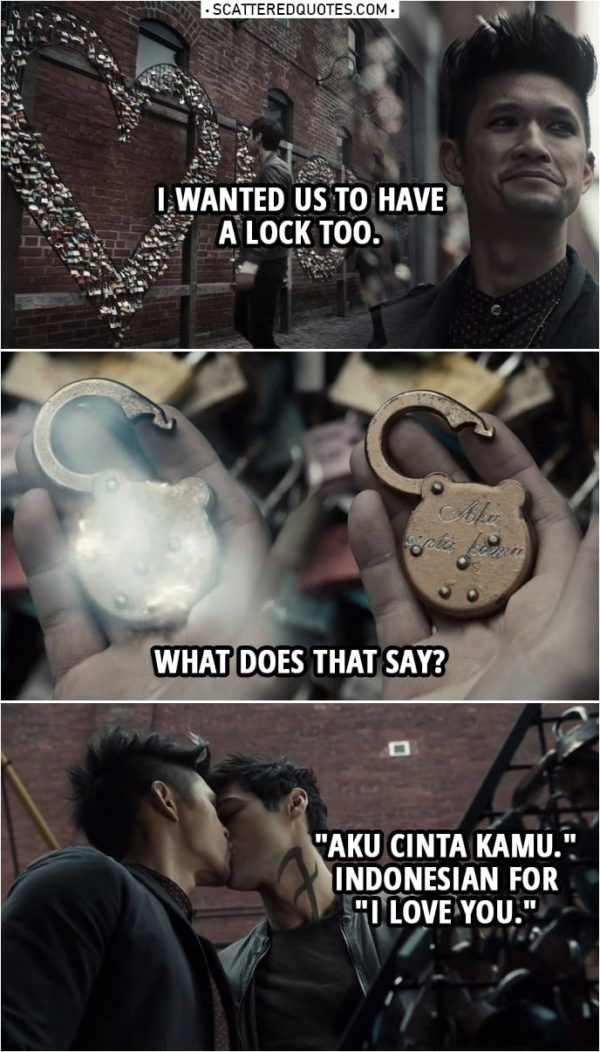 """Quote from Shadowhunters 3x19 