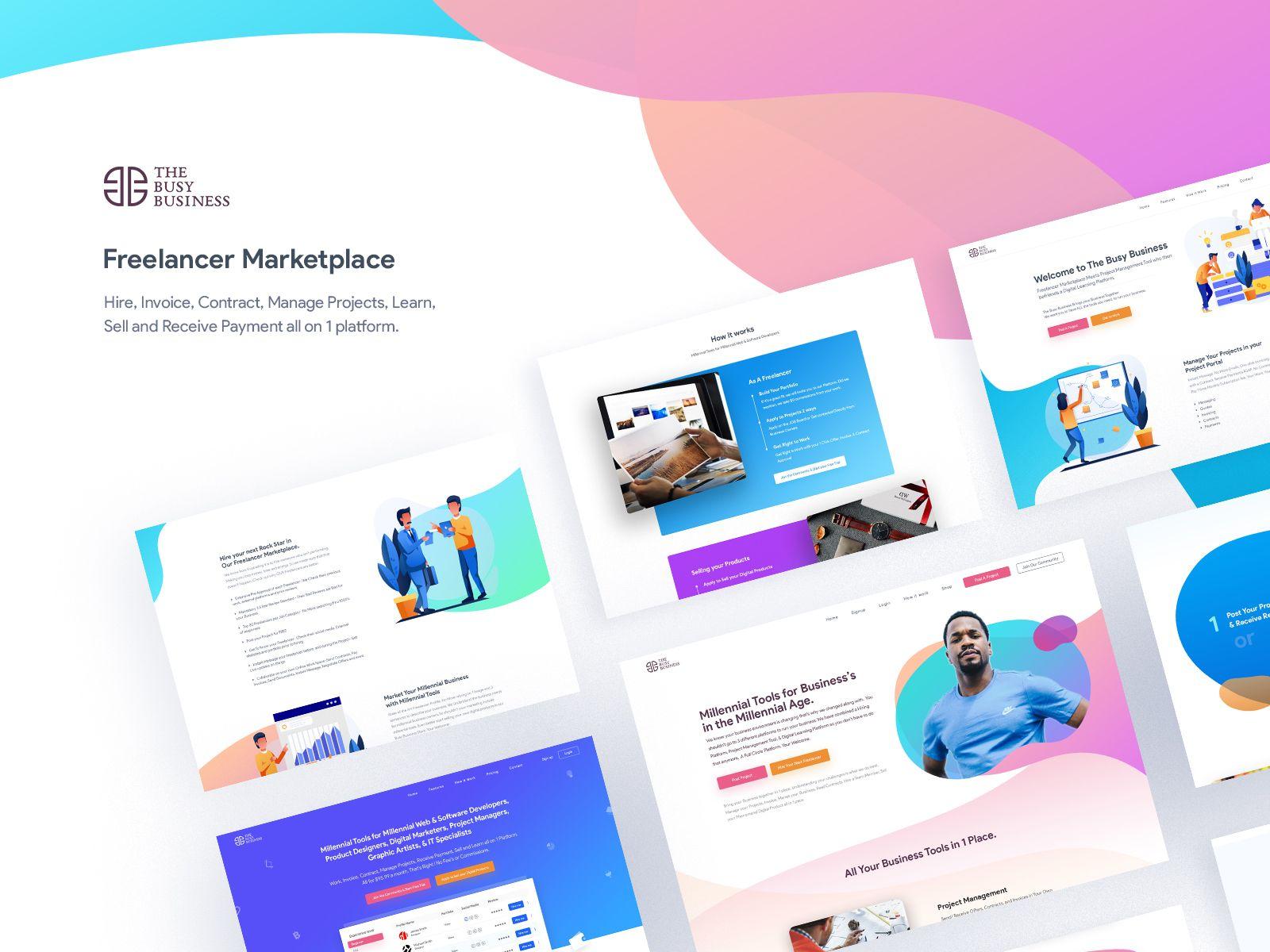 Freelancer Marketplace B2b B2c Website Design Work Page Ii Website Design Web App Design Wp Themes