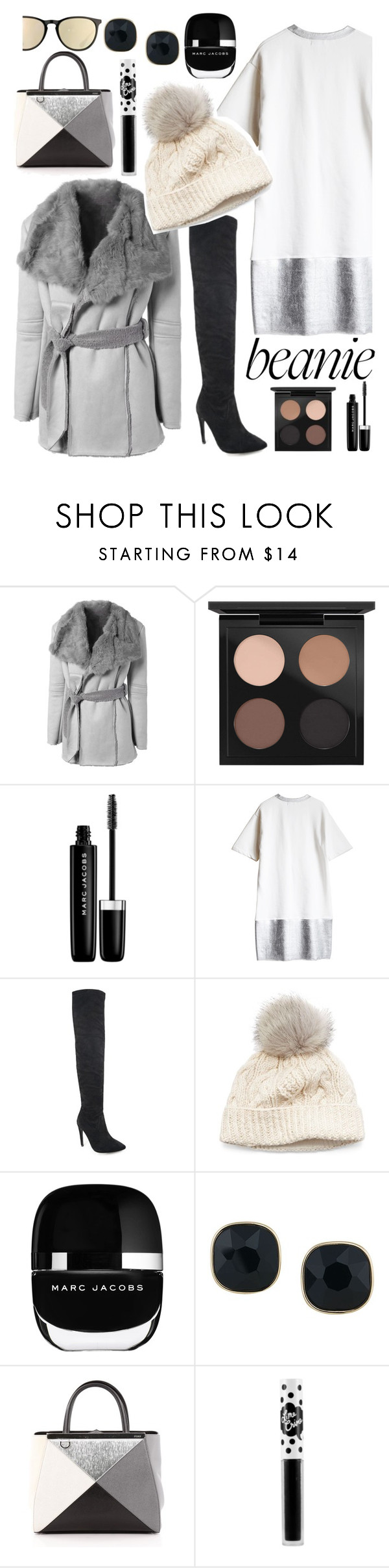 """""""7."""" by vinylrekords ❤ liked on Polyvore featuring MAC Cosmetics, Marc Jacobs, SIJJL, ABS by Allen Schwartz, Fendi, Lime Crime and Ray-Ban"""