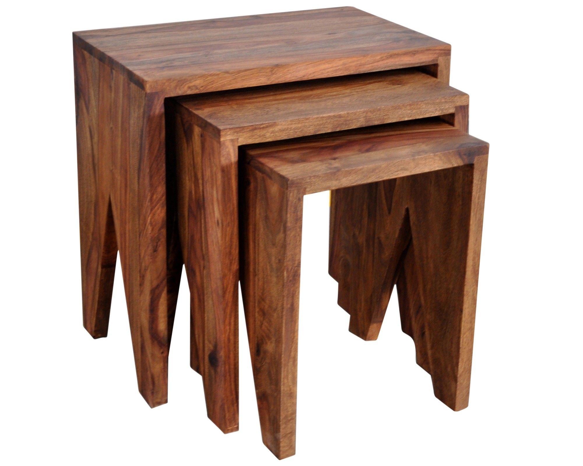 The Natural Beauty Of Indian Sheesham Wood Shows In This Solid Wood,  Hand Crafted