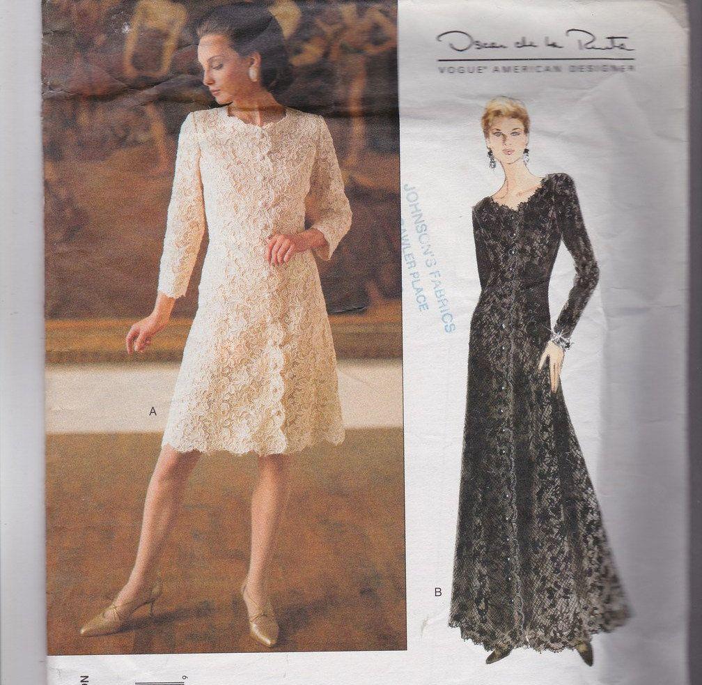 Oscar de la renta mother of the bride sewing pattern long dress
