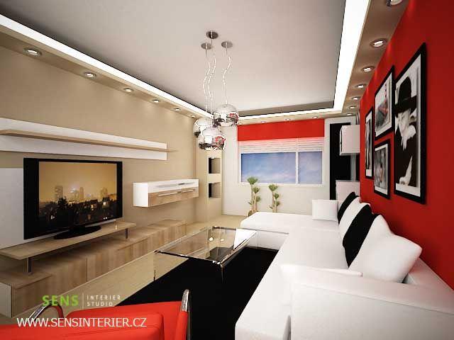 Návrh Interiéru Obývacího Pokoje V Paneláku Františkovi