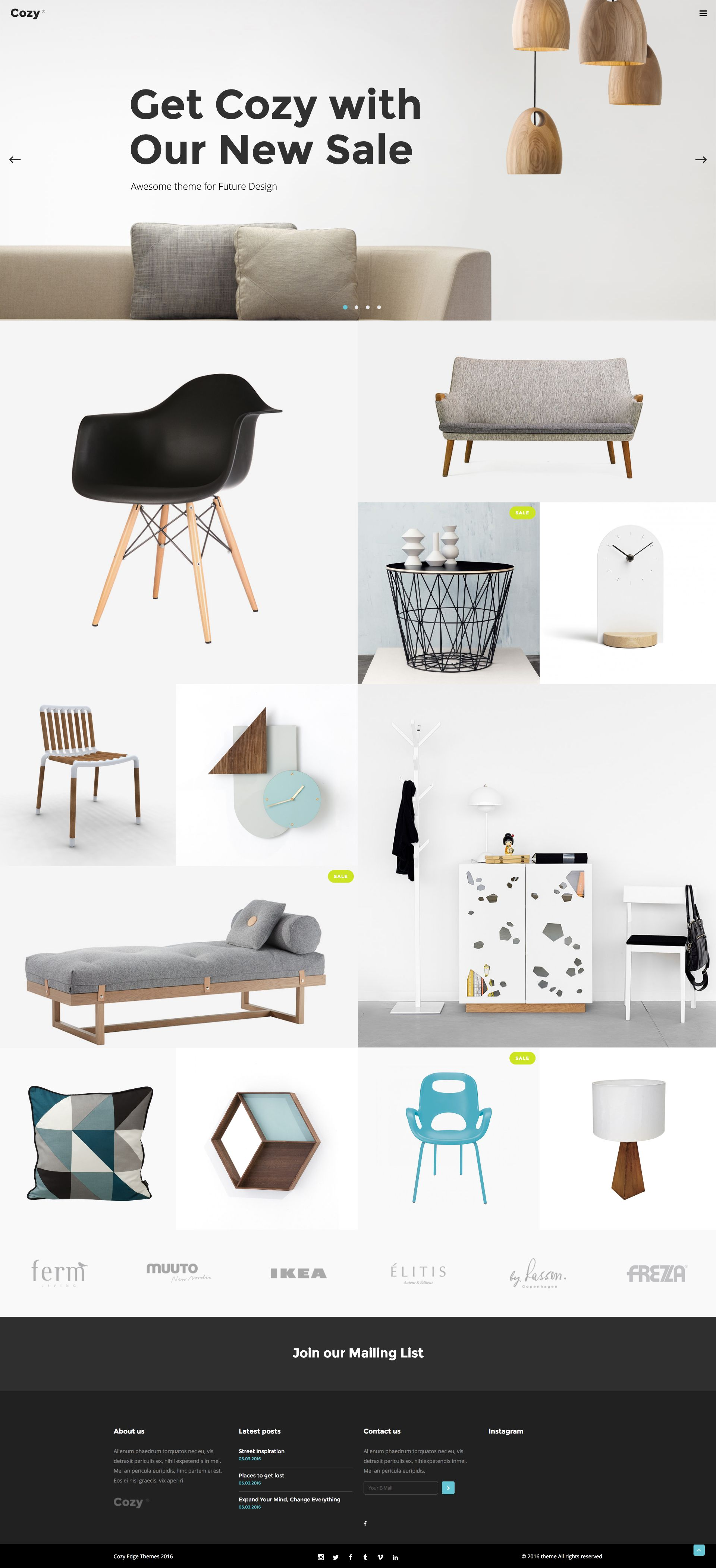Modern clean shopping website for decor and furniture wordpress theme layout woocommerce home and interior design interior shopping template