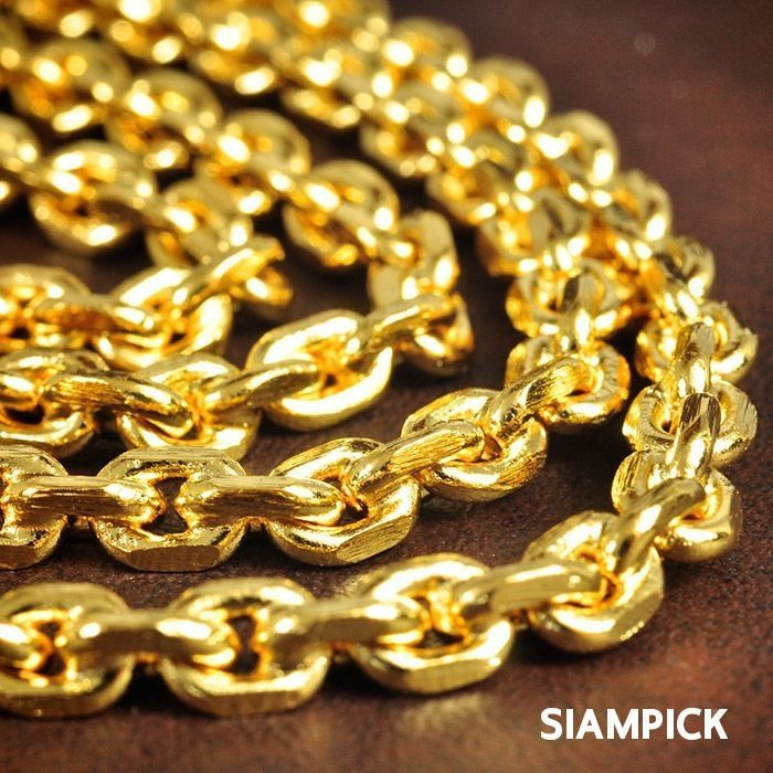 24 Inches Thai 24k Yellow Gold Baht Plated Matted Hip Hop Style Chain Necklace Unbranded Necklace Thai Gold Vi Mens Accessories Jewelry Chain Real Chains
