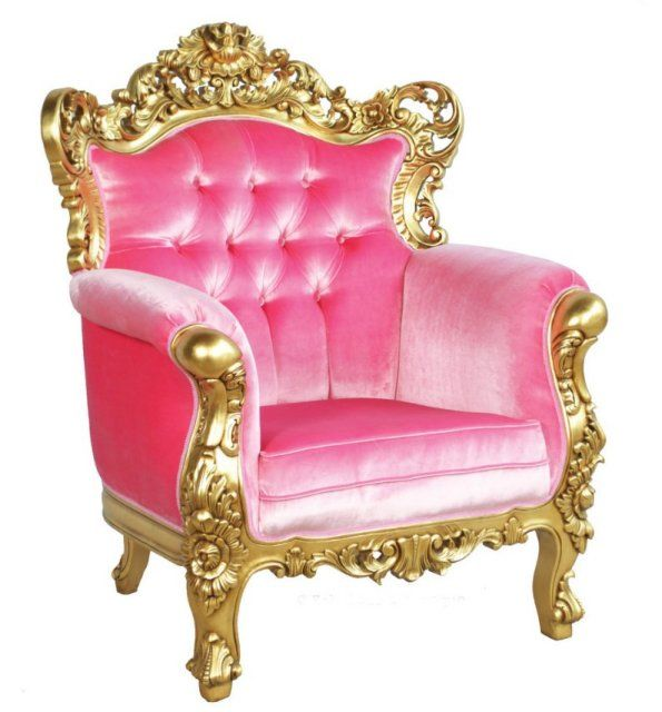 Pink And Gold Chair...throne Got A Princess!