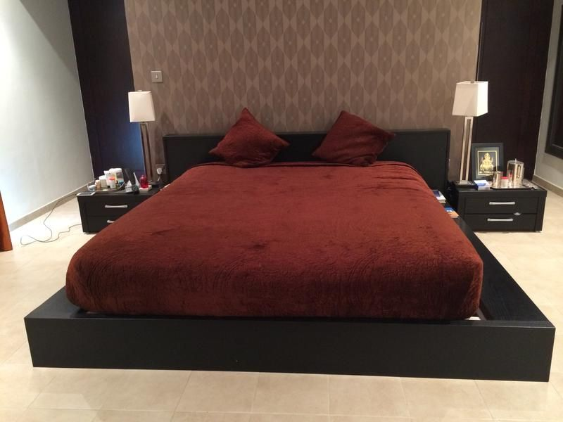 Dubizzle Dubai Beds Bed Sets Amazing Deal For Sale Italian Modern Black Bed With Mattress And Similar Side Tables Black Bedding Bedding Sets Bed